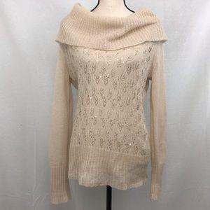 Ann Taylor LOFT Sequins Cowl Neck Sweater
